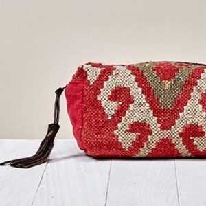 Aztec Woven Cosmetic Bag with Tassel